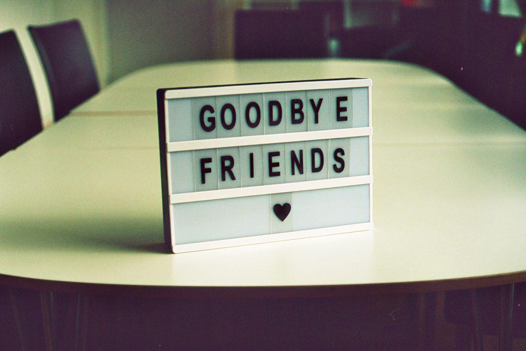 お別れのとき